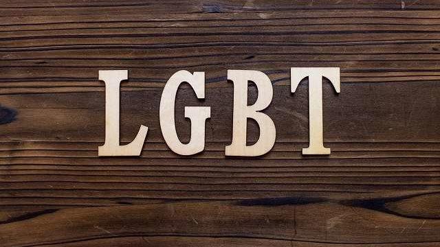 LGBTと書かれたボード